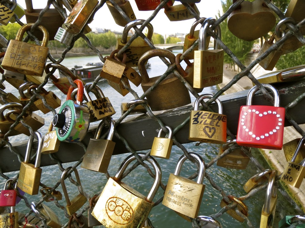 Locks and Love on A bridge Paris