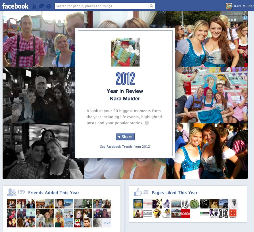 Facebook Top 20 of 2012