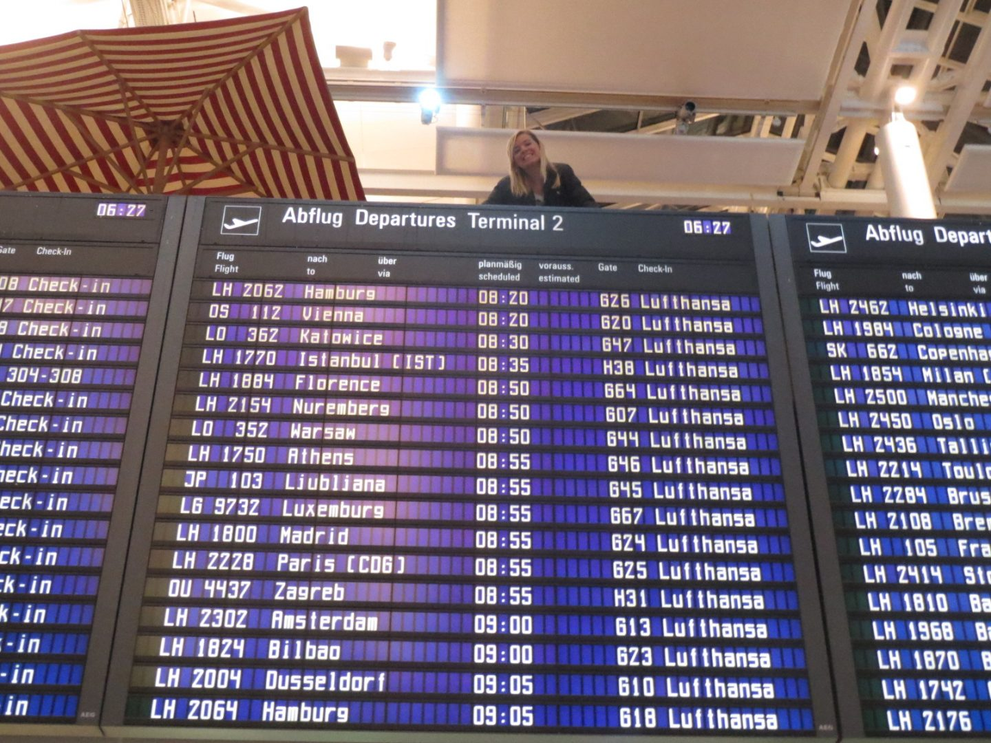 Munich Airport Departure Board