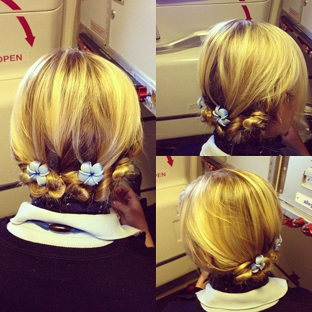 Flight Attendant Hair