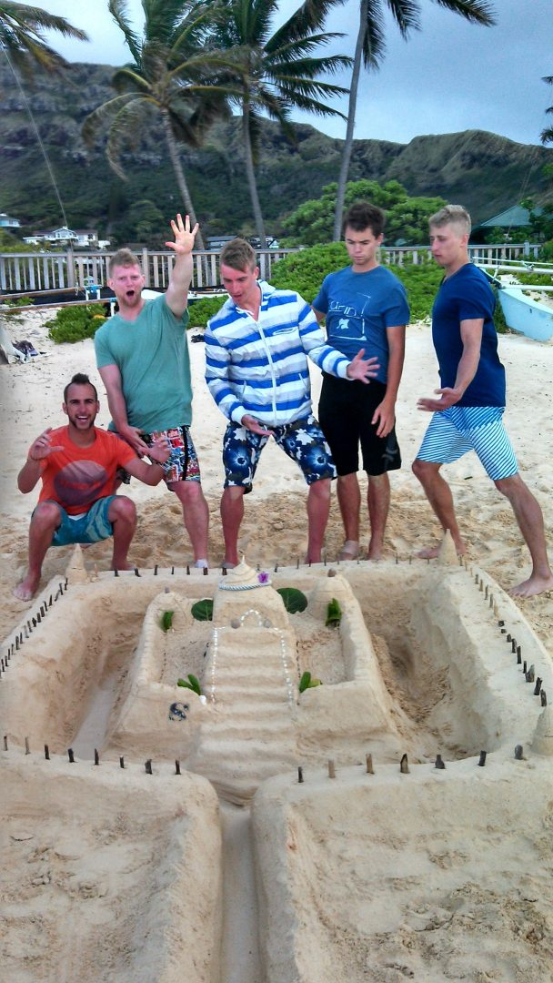 Sandcastles in Hawaii