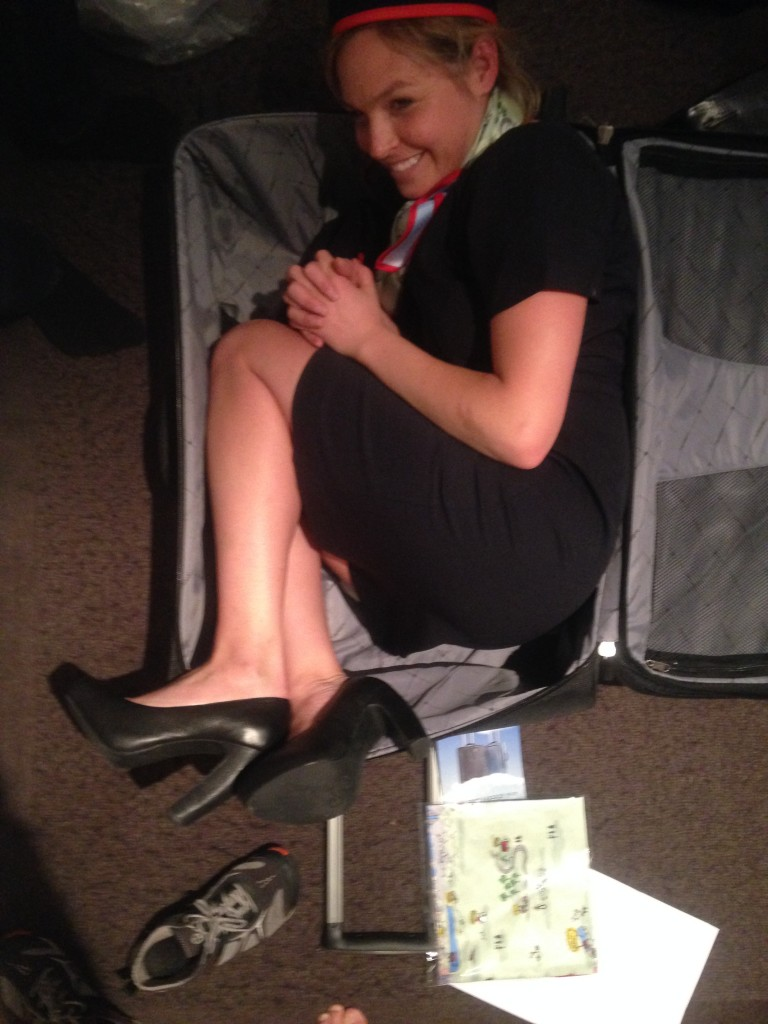flight attendant suitcase problems