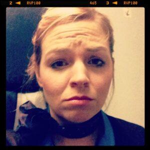 flight attendant sad