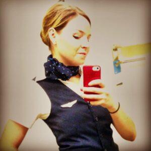 The Game Plane Flight Attendant TV Co-Host Karalee Mulder