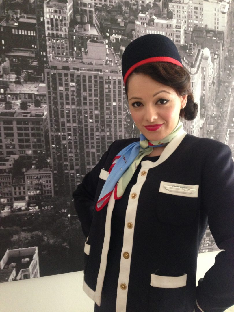 Confident Flight Attendant