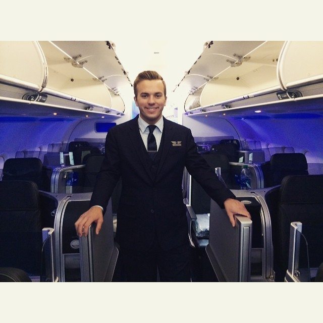 Griffin male flight attendant
