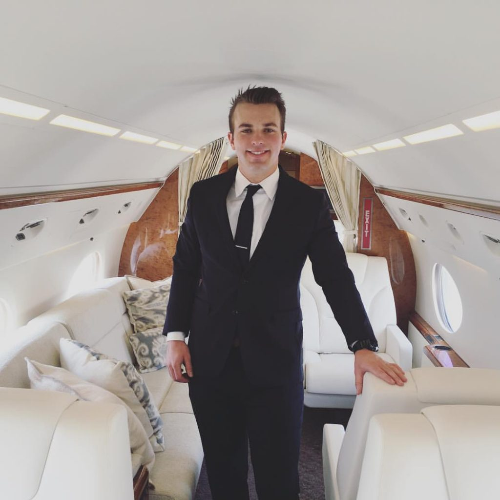 Griffin Bruehl Male Corporate Flight Attendant
